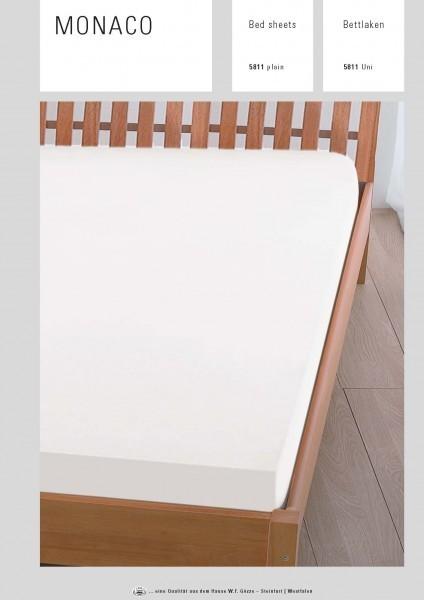 Bettlaken - Baumwolle - weiß - Serie Monaco