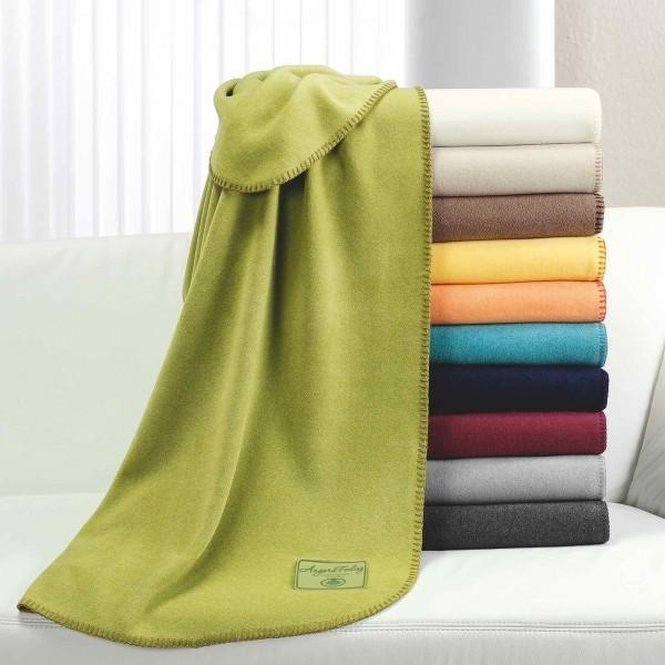 Fleece-Decke - Polyester / Viskose - weiß - Serie Angora-Feeling