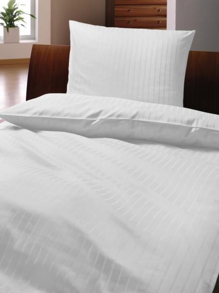 Bettwäsche - Baumwolle - weiß - Serie Luna